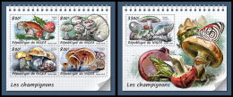 NIGER 2018 MNH** Mushrooms Pilze Champignons M/S+S/S - OFFICIAL ISSUE - DH1833 - Champignons