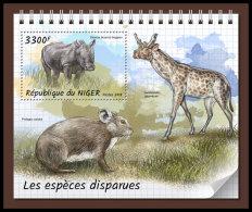 NIGER 2018 MNH** Rhinoceros Nashorn Extinct Species S/S - OFFICIAL ISSUE - DH1833 - Rhinozerosse