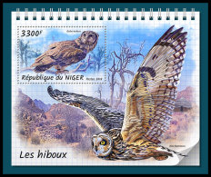 NIGER 2018 MNH** Owls Eulen Hiboux S/S - IMPERFORATED - DH1833 - Owls