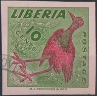 LIBERIA, FAUNA, UCCELLI, BIRDS, 1953, JACANA, FRANCOBOLLO NUOVO (MLH*) YT 322 Scott 345 - Liberia