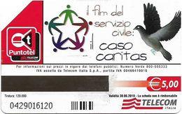 Italy - Telecom Italia - Il Caso Caritas - 5€ - Exp. 30.06.2010, 120.000ex, Used - Italien