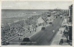 FLINTSHIRE - RHYL - THE PROMENADE AND BEACH Clw89 - Flintshire