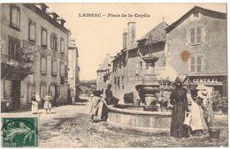 LAISSAC Aveyron : Place De La Capèle - Voyagée Vers BEZIERS - Fontaine - France