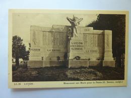 Luçon - Monument Aux Morts Pour La Patrie - Lucon