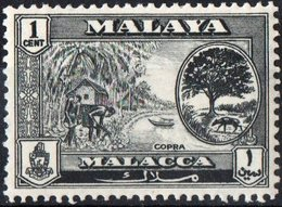 MALAYA, MALACCA, COPRA, 1960, FRANCOBOLLO NUOVO (MLH*) Scott 56 - Malacca