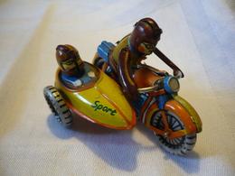 Blechspielzeug - Motorrad Mit Beiwagen (633) - Antikspielzeug