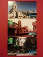 Bolivia COTEOR Oruro 3 Test Card Bs 3 + 5 + 10 Plaza Catedral Sepulturas BOLIVIE BOLIVIEN Mint Unused Neuve (CB1217) - Bolivia