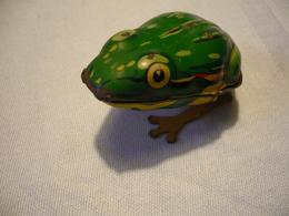 Blechspielzeug - Spring-Frosch - Schlüsselwerk (634) - Antikspielzeug