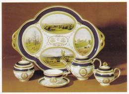 Postcard Leeds Museum Porcelain Cabaret Service Coalbrookdale Shropshire 1871 My Ref  B23042 - Museum