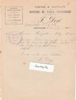 Facture 1905 / F. DORE / Montures De Faulx Champenoises / Articles Pour Faucheurs / Agricole / 10 Lentilles / Aube - 1900 – 1949