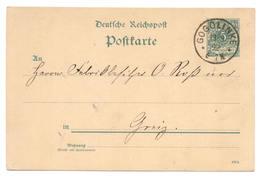 Gogolinke Bei Crone A.d. Brahe 1892 Nach Greiz - Deutschland
