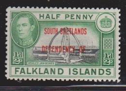 FALKLAND ISLANDS DEPENDENCIES Scott # 5L1 MH - KGVI - Falklandeilanden