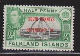 FALKLAND ISLANDS DEPENDENCIES Scott # 4L1 MH - KGVI - Falklandeilanden