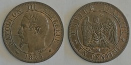 1 CENTIME NAPOLEON III 1855 Ma   (voir Scan) - A. 1 Centime