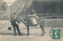 Folklore Petits Métiers - Les Pyrénées - Oblit. Barèges (65 Hautes Pyrénées) La Porteuse De Lait Sur Son âne - Tarbes