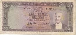 BILLETE DE TURQUIA DE 50 LIRAS DEL AÑO 1970  (BANK NOTE) - Turquia