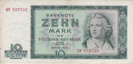BILLETE DE ALEMANIA  DDR DE 10 MARK  DEL AÑO 1964  (BANK NOTE) - [ 6] 1949-1990: DDR - Duitse Dem. Rep.