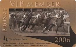 Churchill Downs - Multiple US Racetracks - 2006 Bronze VIP Twin Spires Club Card - Casino Cards