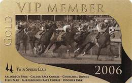 Churchill Downs - Multiple US Racetracks - 2006 Gold VIP Twin Spires Club Card - Casino Cards