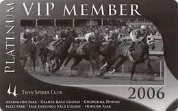 Churchill Downs - Multiple US Racetracks - 2006 Platinum VIP Twin Spires Club Card - Casino Cards