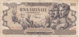 BILLETE DE RUMANIA DE 100 LEI DEL AÑO 1947 (BANKNOTE) - Romania
