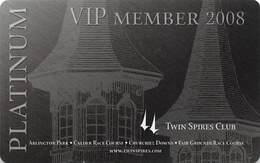 Churchill Downs - Multiple US Racetracks - 2008 Platinum VIP Twin Spires Club Card - Casino Cards