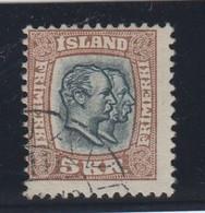 Island , Nr 62 Gestempelt ( 300.-) - 1873-1918 Dépendance Danoise