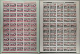 Yugoslavia 1944 Monasteries With Net And Overprint, Sheet Of 50, MNH (**) Michel 451 I And 453 I - Blocks & Kleinbögen