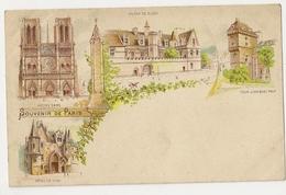 75-33 - Souvenir De Paris- Musée De Cluny - Tour Jean Sans Peur  -Notre Dame- Hôtel De Sens - Cartas Panorámicas