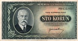 100 KORUN CECOSLOVACCHIA XF - Tchécoslovaquie