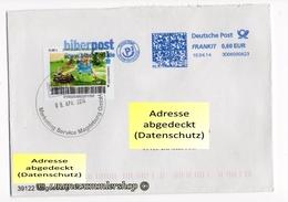BRD - Privatpost - Umschlag - Biberpost - Frohe Ostern / DP AFS Frankit Biberpost - Privatpost
