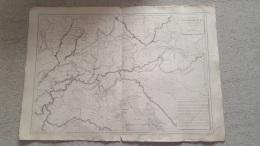 CARTE ALLEMAGNE DU SUD  LITH.  AUX SOURDS MUETS PARIS  GRAVE JENOTTE  47 X 33 CM - Geographical Maps