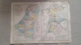 CARTE CONFEDERATION GERMANIQUE ET  BELGIQUE HOLLANDE 47 X 33 CM  DRIOUX ET LEROY - Cartes Géographiques