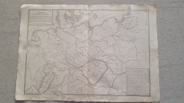 CARTE ALLEMAGNE DU NORD LIBRAIRIE BELIN GRAVEE JENOTTE 47 X 33 CM - Cartes Géographiques