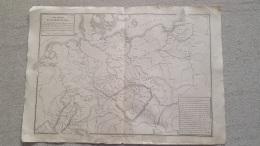 CARTE ALLEMAGNE DU NORD LIBRAIRIE BELIN GRAVEE JENOTTE 47 X 33 CM - Geographical Maps