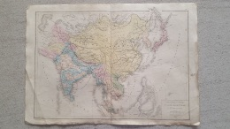CARTE PHYSIQUE ET POLITIQUE ASIE  ORIENTALE LIBRAIRIE BELIN GRAVEE JENOTTE  47 X 33 CM - Cartes Géographiques