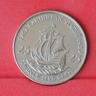 EAST CARIBBEAN STATES 25 CENTS 1989 -    KM# 14 - (Nº25059) - Caribe Oriental (Estados Del)