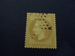 1867-timbre N° 28   B Type 2   -     Bistre    -gros Points            -   Cote  4         Net    1.30 - 1863-1870 Napoléon III Lauré