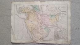 CARTE  PHYSIQUE ET POLITIQUE ASIE OCCIDENTALE   PAR DRIOUX ET LEROY GRAVEE JENOTTE  47 X 33 CM - Cartes Géographiques