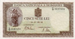 ROMANIA 500 LEI 20-04-1942-UNC - Romania
