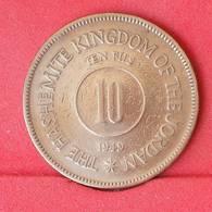 JORDAN 10 FILS 1949 -    KM# 4 - (Nº25065) - Jordanie