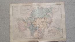 CARTE  POLITIQUE ET ETHNOGRAPHIQUE DE L'ASIE  PAR DRIOUX ET LEROY 47 X 33 CM - Cartes Géographiques