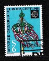 AUSTRIA, 1981, Cancelled Stamp(s) , Europa, Mi 1671,  Scan U4153, - 1945-.... 2nd Republic