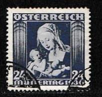 AUSTRIA, 1936, Cancelled Stamp(s) , Mother's Day, Mi 627,  Scan U15006, - 1918-1945 1st Republic