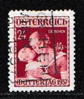 AUSTRIA, 1937, Cancelled Stamp(s) , Mother's Day, Mi 638,  Scan U15007, - 1918-1945 1st Republic