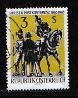 AUSTRIA, 1963, Cancelled Stamp(s) , Paris Postal Conference, Mi 1129,  Scan U15102, - 1945-.... 2nd Republic