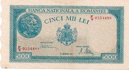 ROMANIA 5000 LEI 20-12-1945-SERIE SPECIALE-0554488 - Romania