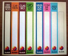SCOTCH STICKERS ADESIVI PER DORSO VHS CON VARI TEMI - Videocesettes VHS