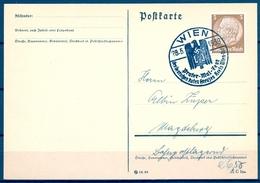 1939 , AUSTRIA , VIENA , TARJETA CON MATASELLOS ESPECIAL , PRATER - MAI - FEST , DES DEUTSCHEN ROTEN KREUZES - 1918-1945 1. Republik