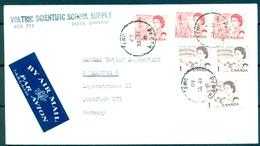 1969 , CANADA , SOBRE CIRCULADO POR CORREO AÉREO , PERTH - HAMBURGO - Briefe U. Dokumente